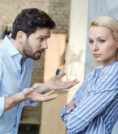 man bullying woman