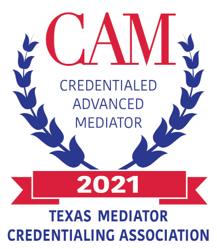 Credentialed Advanced Mediator, the Texas Mediator Credentialing Association